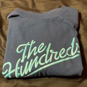 Navy Blue The Hundreds Script Logo T-Shirt Size XL